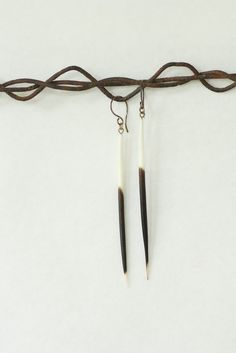 porcupine quill earrings $32