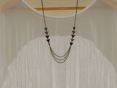 Triangle Geometric Arrow Necklace by melmaxdesigns on Etsy, $18.00