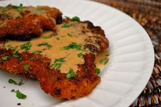 Veal Scaloppini w/ Lemon Cream Sauce. Veal Scaloppini with Lemon Cream Sauce: Crispy veal scaloppini with a delicious lemony cream sauce! Veal Scallopini, Veal Cutlet, Lemon Cream Sauces, Lemon Sauce, Veal Recipes, Cooking Recipes, Healthy Recipes, Veal Chop, Pork Dishes