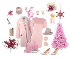 """Pink dream"" by mariapiaflaccomio ❤ liked on Polyvore featuring beauty, DKNY, Warehouse, Manolo Blahnik, Handle, Bally, rag & bone, Ladurée, Tory Burch and Kate Spade"