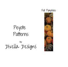 Peyote Pattern Pumpkin Pattern Beading Pattern Beading
