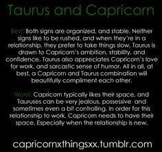 Taurus female capricorn male compatibility