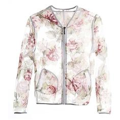 Nightingale Embroidered Jacket (1.890 RUB) ❤ liked on Polyvore featuring outerwear, jackets, embroidered jacket, white jacket and embroidery jackets