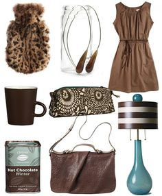 Colour combination - love deep browns and turquoise/blue/teal/bright green combination