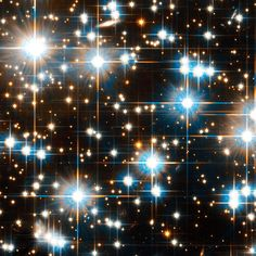Older stars generally make up what are known as globular clusters. These clusters contain as many as 1 million stars. They have enough gravity to hold themselves together over billions of years. Stars in globular clusters are packed together in the core of the clusters. Sometimes they even collide. The core of one of the nearest globular star clusters, NGC 6397 (above), looks like a treasure chest of gems. | Star Clusters | Kids Discover