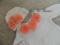 Baby Girl Layette Newborn Gown Baby by CuddleBugsPeanutShop, $30.00