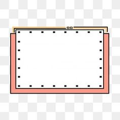 Memphis Border Simple And Cute Cartoon Box Dialog, Memphis Border, Cartoon Border, Simple PNG Transparent Clipart Image and PSD File for Free Download