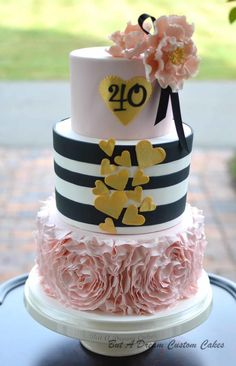 40th birthday cake - Cake by Elisabeth Palatiello