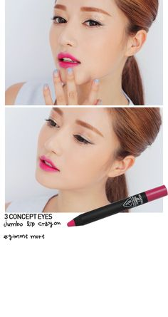 3 Concept Eyes (#3CE) Lip Crayon in #GimmeMore. SHOP NOW at http://www.eyecandys.com/3concept-eyes-jumbo-lip-crayon-gimme-more/ FREE Shipping Worldwide!