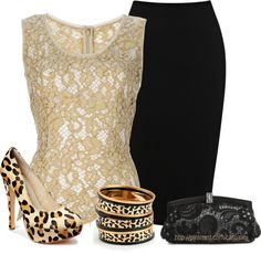 """Lace & Leopard Print"" by casuality on Polyvore"