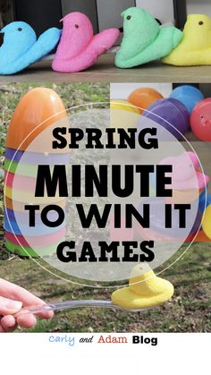 Spring Minute to Win It Games for the Classroom! So many fun ideas for a classroom party or break time!