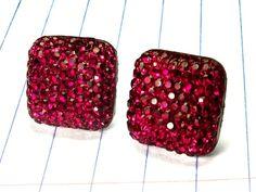 maroon earrings  maroon studs in  raspberry