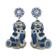 Beaded Earrings, Stud Earrings, Staffordshire Dog, Dog Jewelry, Dog Mom, Fashion Earrings, Dog Lovers, Hair Accessories, Jewels