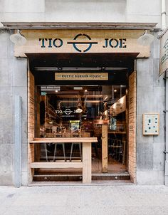 Tio Joe burger restaurant branding You are in the right place about Restaurant logo Here we offer you the most beautiful pictures about the Restaurant furniture you are looking for. When you examine t Burger Bar, Burger Restaurant, Restaurant Branding, Burger Branding, Local Burger, Cafe Shop Design, Cafe Interior Design, Resto Vegan, Mini Cafe