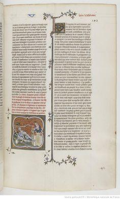 Grandes Chroniques de France Fol 142r, 1375-1380, Henri du Trévou & Raoulet d'Orléans