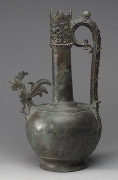 Ewer, 8th–early 9th century Probably Syria Bronze, cast, engraved, and pierced