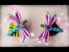 Kanzashi Dragonfly Ribbon Bead Craft Video Tutorial