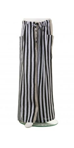 Ralston Grey Stripe Drawstring Trouser, £129.00. 89% linen, 11% polyamide. | idaretobe