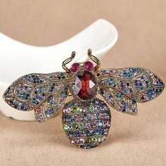 Red Bee Brooches Jewelry Anniversary Jewelry Rhinestone Pin Brooch #brooch #accessories #Jewelry #Pin #Rhinestone #pearl #crystal #gem #outfit  #ootd #styles #streetstyle #trends #look #lookbook #makeup #hair #beauty #beautiful #flower #sexy #fashion #girl #clothing #ideas #trending #whatiwore #beach #trips #fashiondiaries #widn #fashion