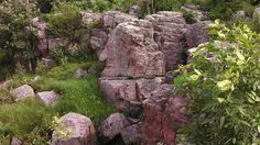 The Oracle - Pipestone National Park, MN. Can you see the face in the stone?