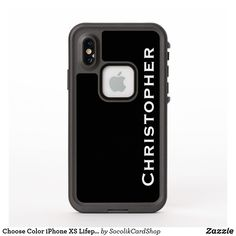 Shop Choose Color iPhone XS Lifeproof Fre Custom Case created by SocolikCardShop. Cool Gifts, Best Gifts, Iphone 6, Iphone Cases, Synthetic Rubber, Gifts For Him, Solid Black, Happy Shopping, Color