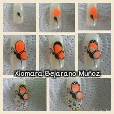 Fails Art Paso A Paso Mariposa 66 Ideas Rüya Tabirleri Natural Nail Designs, Simple Nail Designs, Nail Art Designs, Butterfly Nail Designs, Butterfly Nail Art, Nail Salon Decor, Animal Nail Art, Best Acrylic Nails, Nail Art Hacks