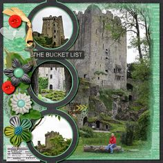Blarney Castle from several angles   LissyKay Designs Gone Fishin' 2, template #2 (June Mixology)   Simple Girl Scraps Fresh Start B2N2 Vint...