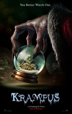 Krampus is a fairly new horror film. It is based off the old legend that basically says Krampus is the opposite of Santa. As Santa gives good children sweets and presents Krampus takes away the bad… 2015 Movies, All Movies, Scary Movies, Movies Online, Awesome Movies, Comedy Movies, Movie Film, Film Trailer, Movie Trailers