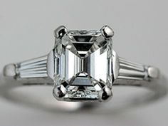 Emerald cut engagement rings | Wedding Blog Ideas and Tips