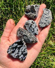 Raw Snowflake Obsidian crystal 12 rough   Etsy Crystal Healing Stones, Stones And Crystals, Obsidian Stone, Snowflake Obsidian, Rock Collection, Rocks And Gems, Burning Candle, Semi Precious Gemstones
