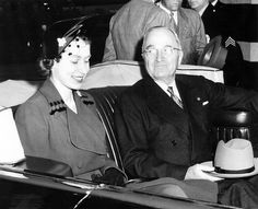 Photograph of President Harry S. Truman and England's Princess Elizabeth in Limousine, 10/31/1951 by The U.S. National Archives, via Flickr