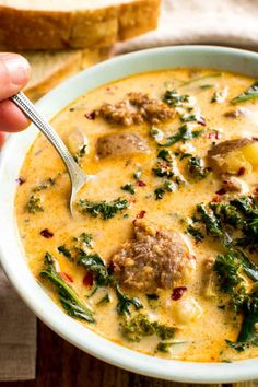 Keep warm during these winter months with this delicious, hearty, and flavorful Italian Sausage and White Bean Soup Recipe! Sausage Potato Soup, Italian Sausage Soup, Recipes Using Italian Sausage, Italian Sausage Recipes, Clean Eating, Bean Soup Recipes, Potato Recipes, Cooking Recipes, Healthy Recipes