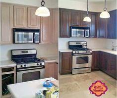 Antique Walnut Kitchen Cabinet Transformation | General Finishes Design Center