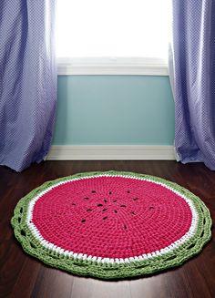 Watermelon Crochet Rug Pattern