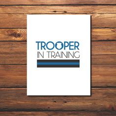 "Very cute! WintsPrints   Trooper in Training Instant Download 8"" x 10"" Nursery Printable on Etsy, $5.00"
