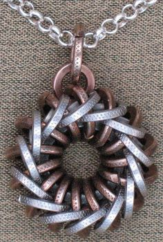 Perpetual Motion IV - Original Design Chainmail Jewelry. $120.00, via Etsy.
