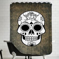 Americanflat Fantasy Skull Horror Design Shower Curtain