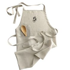 Classic Two-Tie Apron - Linen | Mark and Graham