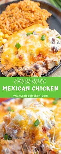 MEXICAN CHICKEN CASSEROLE - RAISA KITCHEN