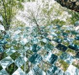 Chequered band of mirrors creates a psychedelic experience in a Budapest forest | Inhabitat - Sustainable Design Innovation, Eco Architecture, Green Building