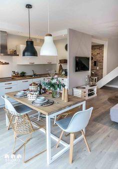 decordemon: Cozy house in Poland by architecture studio Shoko design - Interior Ideas Küchen Design, Deco Design, Interior Design, Design Ideas, Modern Design, Kitchen Interior, Kitchen Decor, Kitchen Layout, Houses In Poland