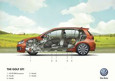 Volkswagen Illustration Posters - Technical Illustration - Jim Hatch Illustration