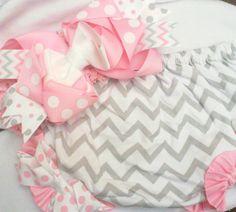 Light Pink TuTu Ruffle Diaper Cover And Headband by DesertRoseKJ