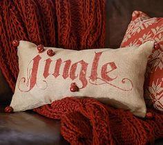 Jingle Lumbar Pillow #potterybarn