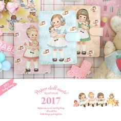 Afrocat Paper Doll Mate Daily Diary 2017 Note Book Schedule Memo New Year Gift #Afrocat
