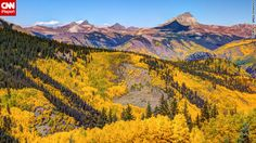 The San Juan Mountains in Hinsdale County were glowing bright yellow when Greg Ochocki of Lake City, Colorado, brought out his camera at the end of September. He said warm weather brought the color later than usual. He used high dynamic range (HDR) photography techniques to show off the colors in the mountains.