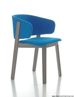 Basic Collection, Wolfgang armchair  #wood #armchair #design #furniture #wolfgang #blue #grey
