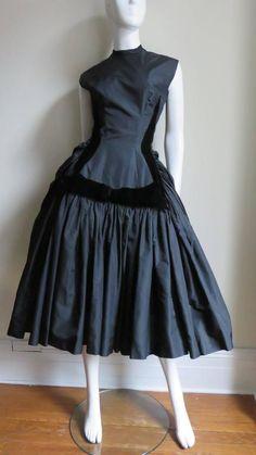 Neusteters Fabulous 1950's Silk Full Skirt Dress