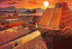 Tenochtitlan: 8 Things You Didn't Know About The Aztec Floating City that Rivaled Venice Aztec City, Aztec Empire, Aztec Culture, Inka, Aztec Warrior, Mesoamerican, Conquistador, Mexico City, Arquitetura