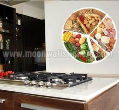 Food Wheel Sticker. Food Wheel, Kitchen Stickers, Meals On Wheels
